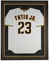 Fernando Tatis Jr. Signed Padres 32x36 Custom Framed Nike Jersey Display (JSA COA) at PristineAuction.com