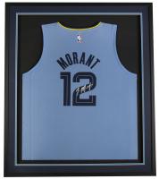Ja Morant Signed Grizzlies 32x36 Custom Framed Fanatics Jersey Display (Beckett COA) at PristineAuction.com