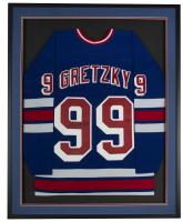 Wayne Gretzky Signed Rangers 32x36 Custom Framed CCM Jersey Display (UDA COA) at PristineAuction.com