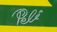 Pele Signed 32x36 Custom Framed Jersey Display (Beckett COA) at PristineAuction.com