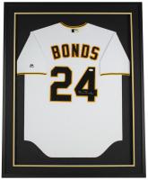 Barry Bonds Signed Pirates 32x36 Custom Framed Majestic Jersey Display (JSA COA) at PristineAuction.com