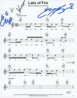 "Curt Kirkwood, Chris Kirkwood, & Krist Novoselic Signed ""Lake of Fire"" Song Sheet (JSA COA) at PristineAuction.com"