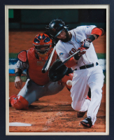 Dustin Pedroia Signed Red Sox 34x42 Custom Framed Jersey Display (MLB Hologram, Fanatics Hologram & SportsMemorabilia Hologram) at PristineAuction.com