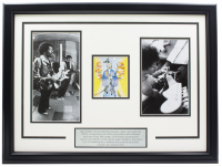 Jimi Hendrix Signed 18x24 Custom Framed Performance Photo Collage Display at PristineAuction.com