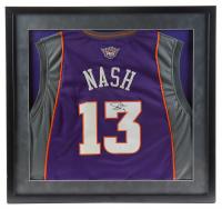 Steve Nash Signed 29x31 Custom Framed Jersey Display (JSA Hologram) at PristineAuction.com