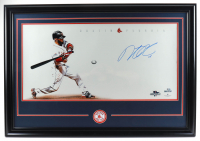 Dustin Pedroia Signed Red Sox 39x27 Custom Framed Photo Display (MLB Hologram) at PristineAuction.com