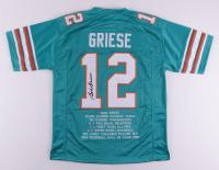 Bob Griese Signed Career Highlight Stat Jersey (JSA Hologram) at PristineAuction.com