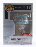 """Steve Downes Signed """"Halo"""" Master Chief with MA40 Assault Rifle In Active Camo #18 Funko Pop! Vinyl Figure Inscribed """"Master Chief 117"""" (Radtke COA) (See Description) at PristineAuction.com"""