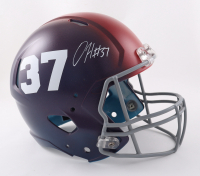 Damien Harris Signed Patriots Full-Size Hydro-Dipped Speed Helmet (Beckett Hologram) (See Description) at PristineAuction.com