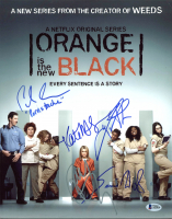 """""""Orange Is the New Black"""" 11x14 Photo Cast-Signed by (5) with Pablo Schreiber, Taylor Schilling, Samira Wiley, Kate Mulgrew & Uzo Aduba (Beckett LOA) at PristineAuction.com"""