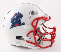 Damien Harris Signed Full-Size Youth Helmet (Beckett Hologram) (See Description) at PristineAuction.com