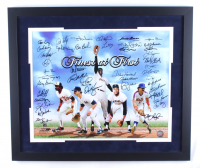 Finest at First 22x26 Photo Signed by (42) with Von Hayes, Mike Epstein, Hector Lopez, Dickie Thon, Tim Foli, Sandy Alomar (MAB Hologram) at PristineAuction.com