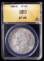 1880 Morgan Silver Dollar VAM-14 (ANACS EF45) at PristineAuction.com