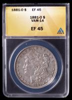 1881-O Morgan Silver Dollar VAM-14 (ANACS XF45) at PristineAuction.com
