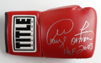 """George Foreman Signed Title Boxing Glove Inscribed """"HOF 2003"""" (Beckett COA) (See Description) at PristineAuction.com"""