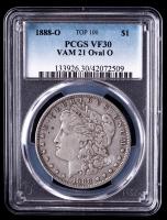 1888-O Morgan Silver Dollar VAM-21 Oval O (PCGS VF30) at PristineAuction.com