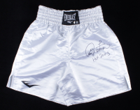 """George Foreman Signed Everlast Boxing Trunks Inscribed """"HOF 2003"""" (Beckett COA) at PristineAuction.com"""