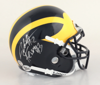 """Charles Woodson Signed Michigan Wolverines Mini Helmet Inscribed """"Heisman '97"""" (Beckett COA) at PristineAuction.com"""
