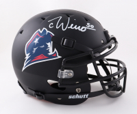 Chase Winovich Signed Full-Size Youth Authentic On-Field Matte Black Helmet (Beckett Hologram) at PristineAuction.com