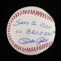 "Pete Rose Signed OML Baseball Inscribed ""Sorry I Bet On Baseball"" (PSA COA) (See Description) at PristineAuction.com"