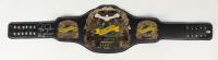 """Royce Gracie Signed Full-Size UFC #1 Championship Belt Inscribed """"UFC 1, 2, & 4 Champ"""" & """"HOF 03"""" (PA COA) at PristineAuction.com"""
