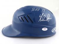 "Nolan Ryan Signed Rangers Full-Size Batting Helmet Inscribed ""H.O.F. '99"" (PSA COA) at PristineAuction.com"