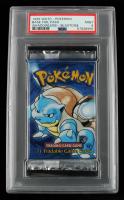 1999 Pokemon Base Foil 1st Edition Shadowless Blastoise Pack (PSA 9) at PristineAuction.com