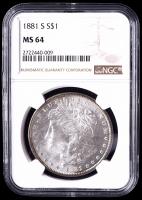 1881-S Morgan Silver Dollar (NGC MS64) at PristineAuction.com