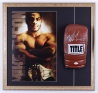 Mike Tyson Signed 21x22 Custom Framed Boxing Glove Display (PSA COA) (See Description) at PristineAuction.com