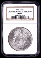 1885-O Morgan Silver Dollar - Great Montana Collection (NGC MS64) (Toned) at PristineAuction.com