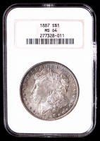1887 Morgan Silver Dollar (NGC MS64) OH (Toned) at PristineAuction.com