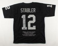 Ken Stabler Signed Career Highlight Stat Jersey (Stabler COA) at PristineAuction.com