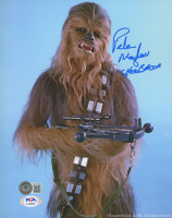 """Peter Mayhew Signed """"Star Wars"""" 8x10 Photo Inscribed """"Chewbacca"""" (Beckett COA & PSA COA) at PristineAuction.com"""