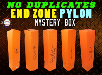 Schwartz Sports NO DUPLICATES Football Endzone Pylon Signed Mystery Box - Series 4 (Limited to 75) (NO DUPLICATES – 75 DIFFERENT PLAYERS) at PristineAuction.com