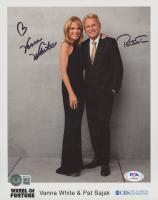 """Vanna White & Pat Sajak Signed """"Wheel Of Fortune"""" 8x10 Photo (Beckett COA & PSA COA) at PristineAuction.com"""