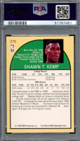 Shawn Kemp Signed 1990-91 Hoops #279 RC (PSA 9) at PristineAuction.com