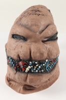 """Ken Page Signed """"The Nightmare Before Christmas"""" Oogie Boogie Mask Inscribed """"Boo!"""" & """"Oogie Boogie"""" (Beckett COA) at PristineAuction.com"""