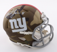 Daniel Jones Signed Giants Camo Alternate Speed Mini Helmet (Beckett Hologram) at PristineAuction.com