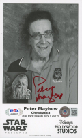 Peter Mayhew Signed 5x8 Photo (Beckett COA & PSA COA) at PristineAuction.com