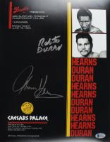 "Roberto Duran & Thomas ""Hitman"" Hearns Signed 11x14 Photo (Beckett COA) at PristineAuction.com"