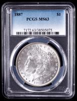 1887 Morgan Silver Dollar (PCGS MS63) at PristineAuction.com