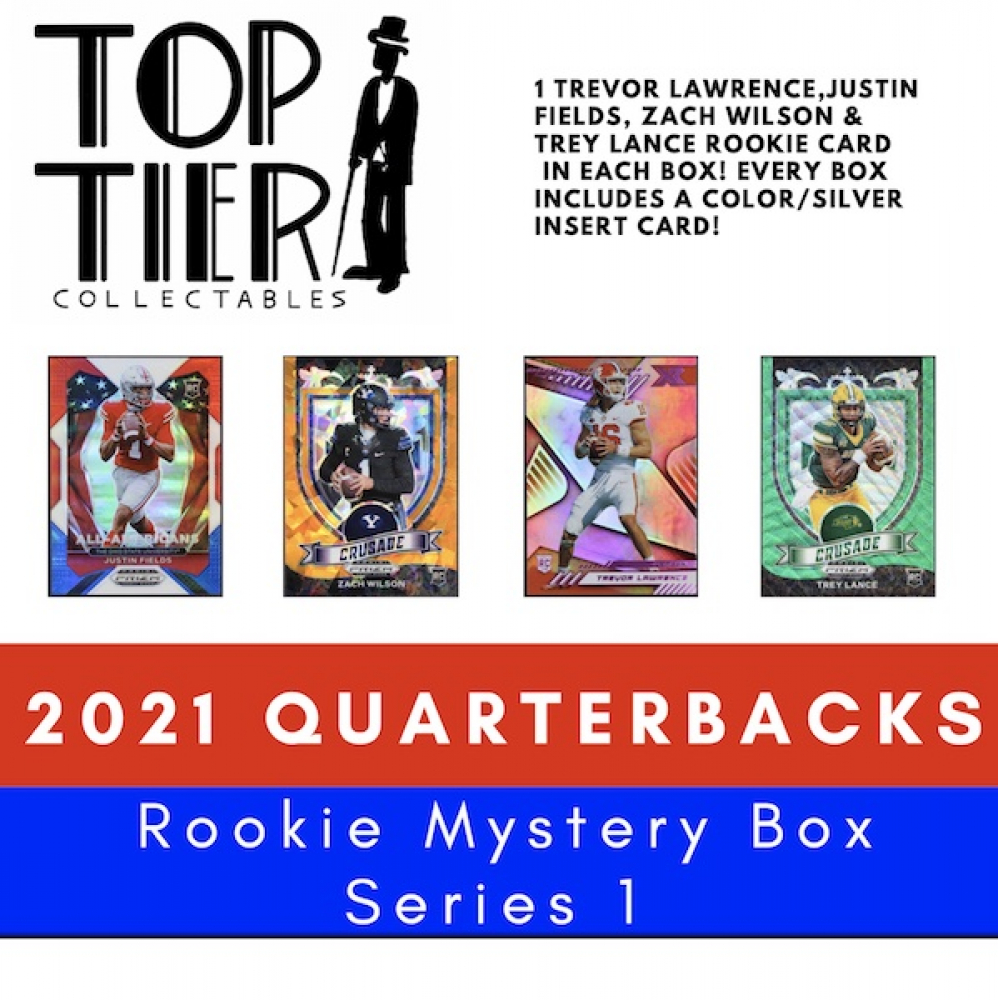 TTC 2021 Quarterbacks All Rookie Mystery Card Box Series 1 - (4) Rookie Cards per Box (Limited to 25) at PristineAuction.com