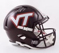 Michael Vick Signed Virginia Tech Hokies Full-Size Speed Helmet (JSA COA) at PristineAuction.com