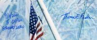 "Thomas E. Franklin Signed ""Raising the Flag at Ground Zero"" 16x20 Photo Inscribed ""9/11/2001 5:01PM Ground Zero"" (PSA Hologram & Beckett COA) at PristineAuction.com"