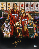 Shaquille O'Neal Signed Heat 16x20 Photo (Beckett COA) at PristineAuction.com