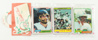 1981 Topps Football Christmas Rack Pack with (12) Cards With Bob Griese and Dan Fouts Showing On Top at PristineAuction.com