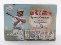2021 Topps Allen & Ginter World's Champions Baseball Trading Card Blaster Box with (48) Cards at PristineAuction.com