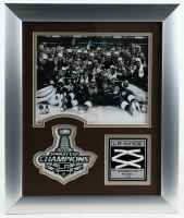 Los Angeles Kings 2014 Stanley Cup Champions 15.5x18.5 Custom Framed Game Used Net Piece Display (NHL COA) (See Description) at PristineAuction.com