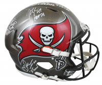 Buccaneers Full-Size Authentic On-Field Speed Helmet Team-Signed by (5) With Warren Sapp, Mike Alstott, Derrick Brooks, John Lynch & Brad Johnson With Multiple Inscriptions (Beckett Hologram) at PristineAuction.com