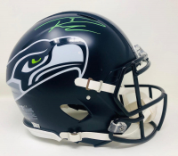 Russell Wilson Signed Seahawks Full-Size Authentic On-Field Speed Helmet (Fanatics Hologram) at PristineAuction.com